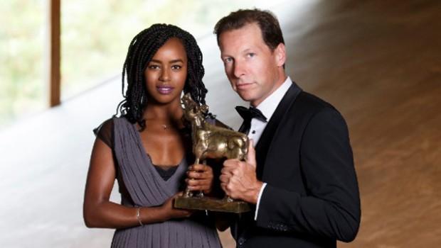 Herman van der Zandt en Eva Cleven presenteren Gouden Kalveren Gala 2016