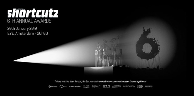 Frans Weisz ontvangst Shortcutz Amsterdam Annual Award in Eye