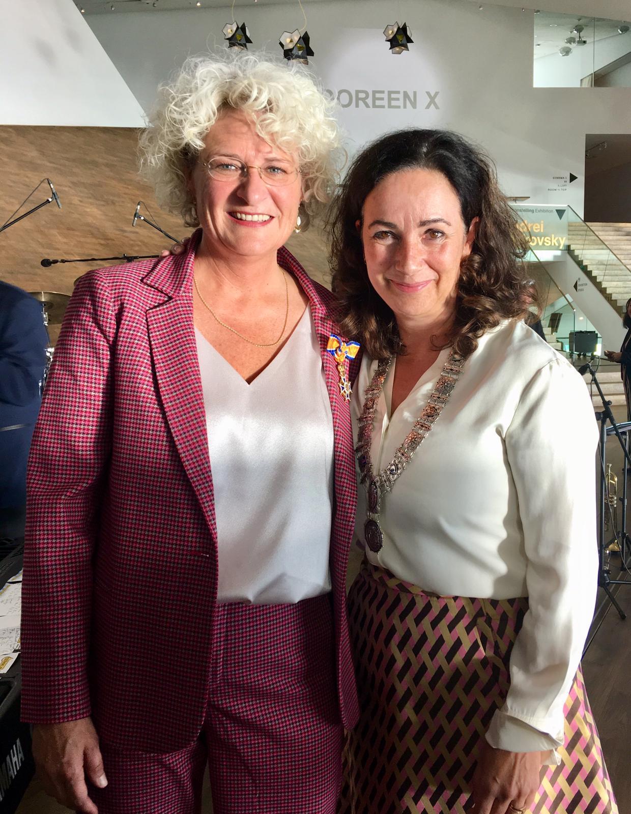 Doreen Boonekamp bevorderd  tot Officier in de Orde van Oranje-Nassau